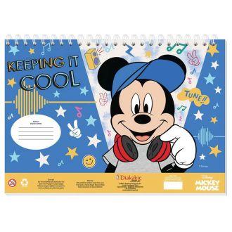 Diakakis μπλοκ ζωγραφικής 40Φύλλων 23Χ33 Mickey