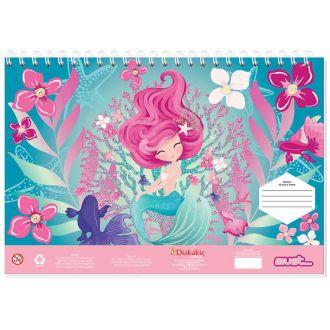 Diakakis μπλοκ ζωγραφικής 40Φύλλων 23Χ33 Mermaid dream