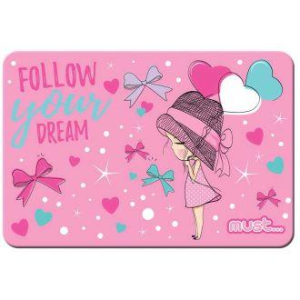 Must Σουπλά PVC 43x29cm folow your dream
