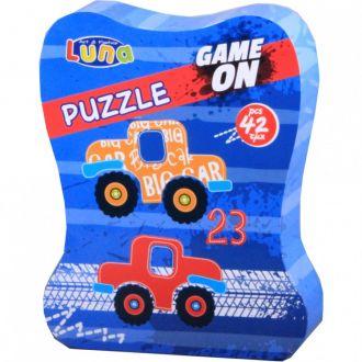 Luna puzzle αυτοκίνητα  42τμχ 25Χ20Χ5 εκ.