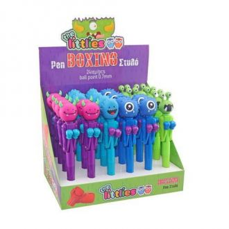 The littlies στυλό τερατάκια μποξ 4 χρώματα 000646727