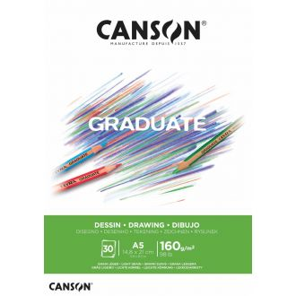 Canson μπλοκ Graduate drawing white  A5 160gr 30φύλλα