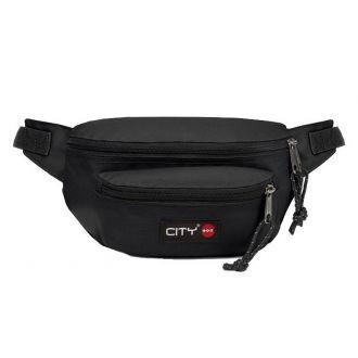 City τσαντάκι μέσης Black is back διπλό 90175
