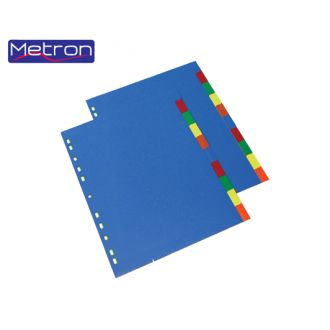 Metron Διαχωριστικά A4 10 Χρωμάτων Πλαστικά