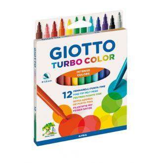 Giotto Μαρκαδόροι ζωγραφικής Turbo Color 12 χρώματα 0071400