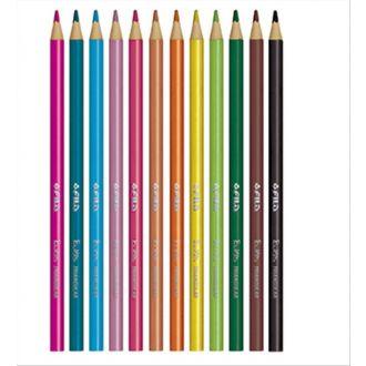 Giotto Ξυλομπογιές Elios Tri 12 Χρώματα 275800