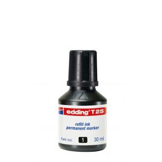 edding Τ-25 Ανεξίτηλο μελάνι 30ml Μαύρο
