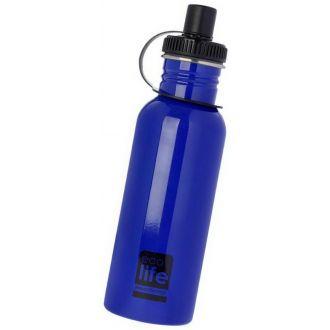 Ecolife μεταλλικό μπουκάλι 600ml Μπλε 33-BO-1005