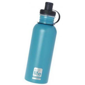 Ecolife μεταλλικό μπουκάλι 600ml Aqua 33-BO-1012