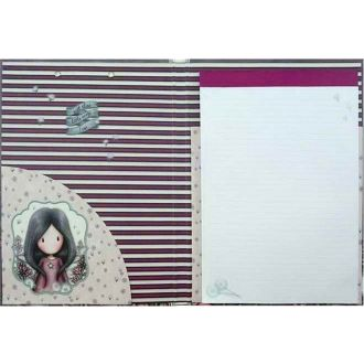 Santoro Gorjuss clip folio with pad - little wings 1031GJ02