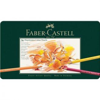 Faber Castell Μεταλλική κασετίνα πολυτελείας με ξυλομπογιές Polychromos 36 χρώματα (110036)