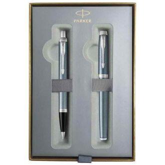 Parker Set Στυλό & Πένα I.M. CR Blue Grey CT Fountain Pen - Ballpen (1159.4022.17)