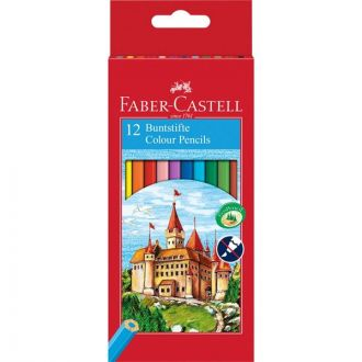 Faber Castell Ξυλομπογιές Κάστρο 12 Χρώματα 120112
