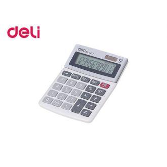 Deli Αριθμομηχανή 12 Ψηφίων Ηλίου/Μπαταρίας 1217