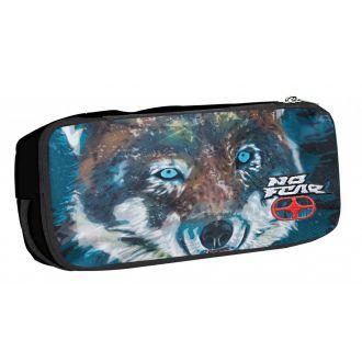 BMU Κασετίνα βαρελάκι οβάλ No Fear - Fluo Wolf 347-70141
