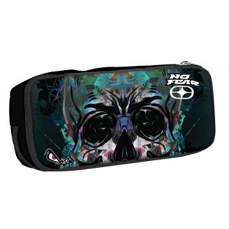 BMU Κασετίνα βαρελάκι οβάλ No Fear - Glass Skull 347-81141