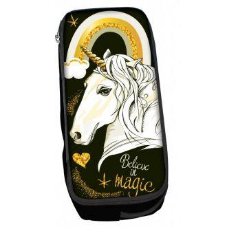 BMU Κασετίνα βαρελάκι οβάλ Magic Unicorn 357-03141