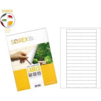Sorex Αυτοκόλλητες ετικέτες εκτύπωσης A4 147.3x16.9 100 Φύλλων
