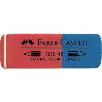 Faber Castell γόμα κόκκινη/μπλε rubber 187040