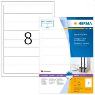 HERMA αυτοκόλλητες ετικέτες 192mm x 34mm 100Φ No 4290