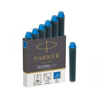 Parker Μελάνη Quink mini ink 6τεμ Μπλέ (1185.2386.16)