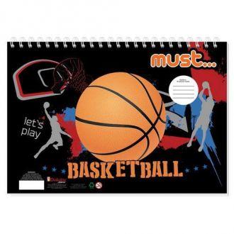 Must Μπλοκ Ζωγραφικής  23x33 Hot Μπασκετ/Ποδόσφαιρο 40Φ. 000579899