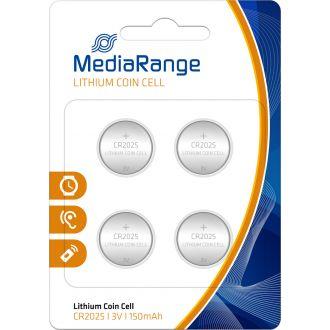 Media Range μπαταρία λιθίου  CR2025 3V  4τμχ.  (MRBAT131)