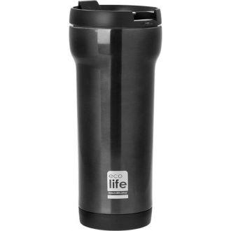 Ecolife coffee thermos mug 420ml Black 33-ΒΟ-4006