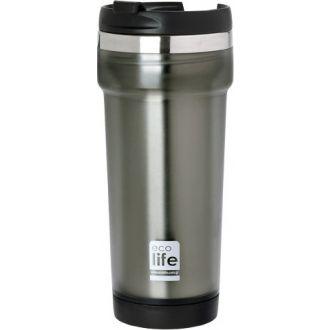 Ecolife coffee thermos mug 420ml Grey  33-ΒΟ-4010