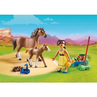 Playmobil 70122 Η Πρού με άλογο και πουλάρι