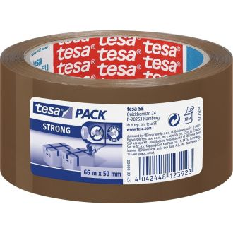 Tesa Ταινία συσκευασίας Pack Strong 50mm x 66m Καφέ