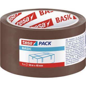 Tesa Ταινία συσκευασίας Basic 48mm x 50m Καφέ