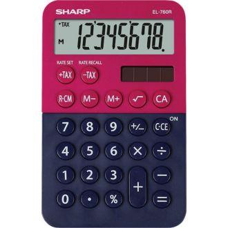 Sharp Αριθμομηχανή γραφείου EL-760RB-RB 8 ψηφίων Φούξια