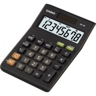 Casio αριθμομηχανή 8 ψηφίων ηλιακή 10,3 x 14.5cm (MS-8B)