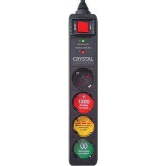 Crystal Audio Πολύμπριζο ασφαλείας 4 θέσεων CP4-1300