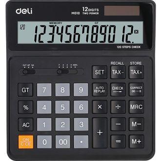 Deli Αριθμομηχανή 12 Ψηφίων Ηλίου/Μπαταρίας M01020