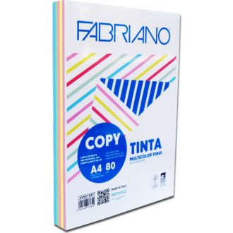 Fabriano Tinta Χρωματιστό χαρτί Α4 80gr Rainbow 250 Φύλλα 5 απαλά χρώματα