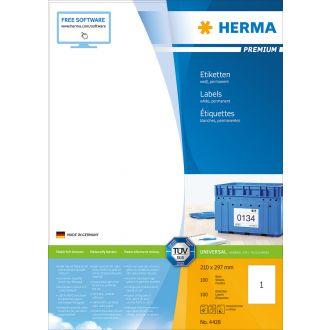 Herma Αυτοκόλλητες ετικέτες 210x297 αδιάβροχες 100 Φύλλα