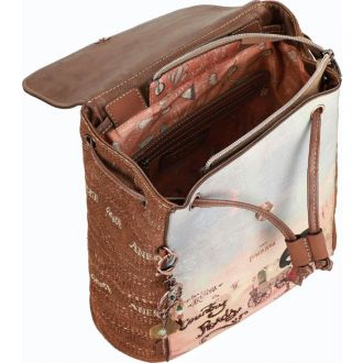 Anekke Τσάντα πλάτης μεσαία με καπάκι  AN30705-05