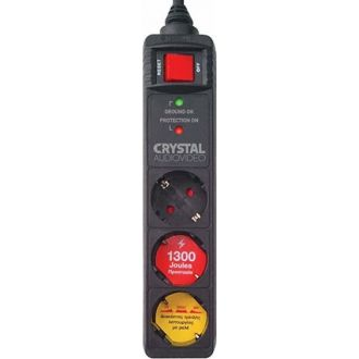 Crystal Audio Πολύμπριζο ασφαλείας 3 θέσεων CP3-1300