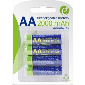 Energenie επαναφορτιζόμενες μπαταρίες ΑΑ 2000mAh 1.2V 4τμχ.