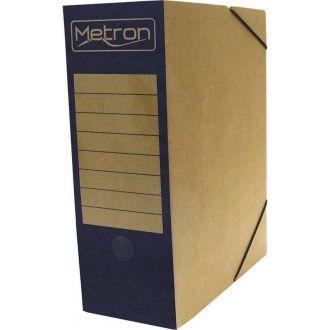 Metron Κουτί αρχείου με λάστιχο οικολογικό ράχη 12cm Μπλε