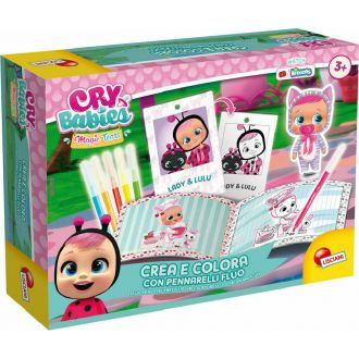 Lisciani Cry Babies magic tears Coloring with fluo markers  83473