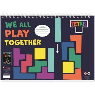 Diakakis μπλοκ ζωγραφικής Tetris +στενσιλ + αυτοκόλλητα  23x33εκ. 40Φύλλα 000504032