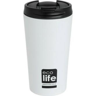 Ecolife coffee thermos 370ml White matt 33-BO-4103