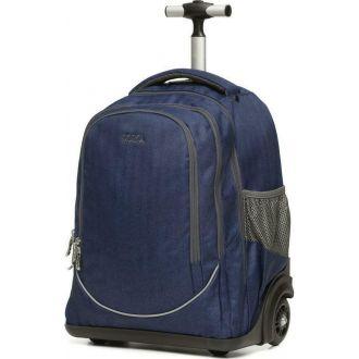 Polo Σακίδιο trolley 3 θέσεων Rolleto Μπλε (9-01-253-5100)