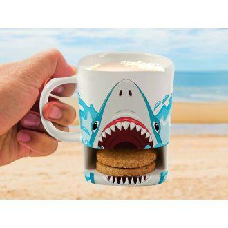i-total Cookies ceramic pocket mug 250ml - Shark