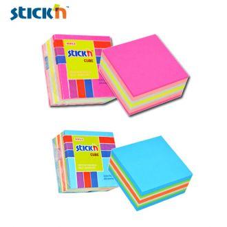 STICK'N χαρτάκια σημειώσεων αυτοκόλλητα neon κύβος 5χρωματα 50Χ50χιλ. 250φ.