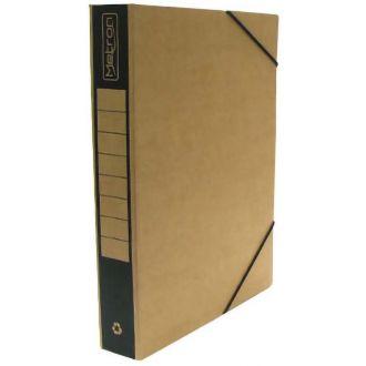 Metron Κουτί αρχείου με λάστιχο οικολογικό ράχη 5cm Μαύρο