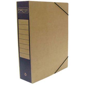 Metron Κουτί αρχείου με λάστιχο οικολογικό ράχη 8cm 4 χρώματα